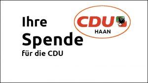 Ihre Spende CDU Haan