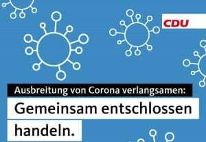 CDU CORONA VERLANGSAMEN