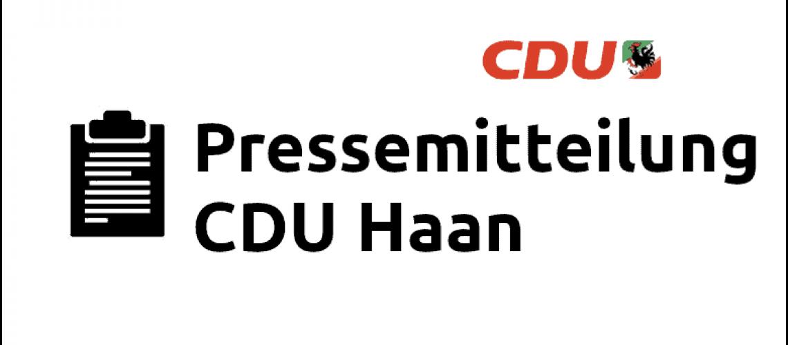 Pressemitteilung der CDU Haan